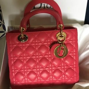 Lady Dior Classic Bag, hot pink, Like New with RPT
